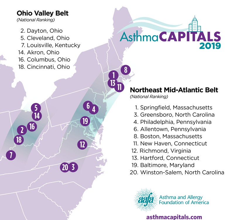 worst places to live with asthma